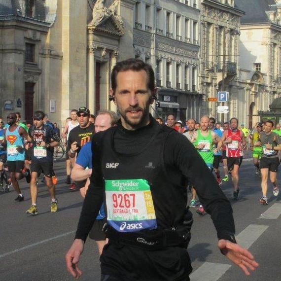 Marathon de Paris 2017 - Dossard Solidaire de Bertrand Chédebois