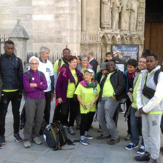 Mont-Saint-Michel : les Marcheurs de l'Espérance !